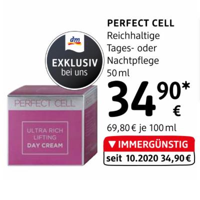 Perfect Cell Reichhaltige Tages- oder Nachtpflege um € 34,90