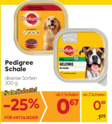 Pedigree Schale in diversen Sorten um € 0,89