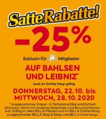 -25% auf Bahlsen und Leibniz