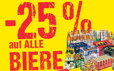 -25% auf alle Biere