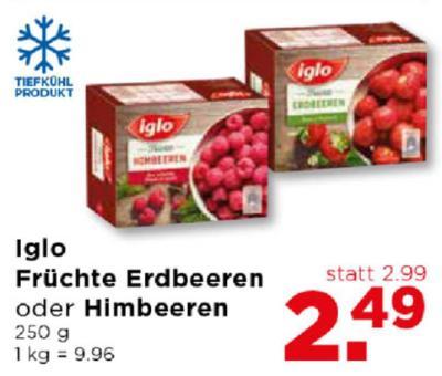 Iglo Früchte Erdbeeren oder Himbeeren