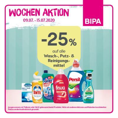 -25% auf alle Wasch-, Putz- & Reinigungsmittel