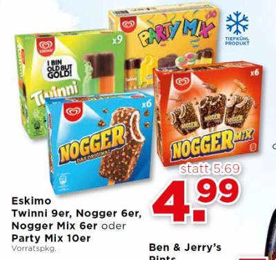 Eskimo Twinni 9er, Nogger 6er, Nogger Mix 6er oder Party Mix 10er