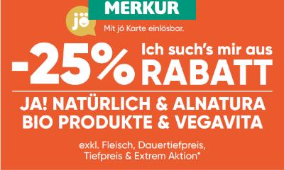 -25% auf Ja! Natürlich & Alnatura Bio Produkte & Vegavita