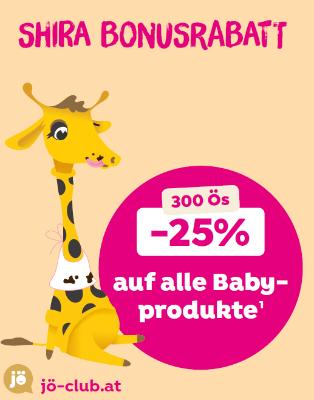 -25% auf alle Babyprodukte für 300 Ös