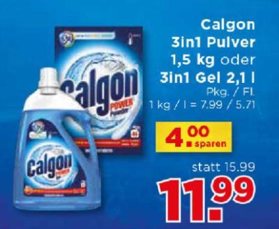 Calgon 3in1 Pulver 1,5 kg oder 3in1 Gel 2,1 l