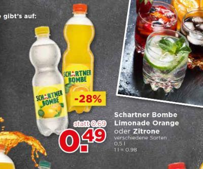 Schartner Bombe Limonade Orange oder Zitrone