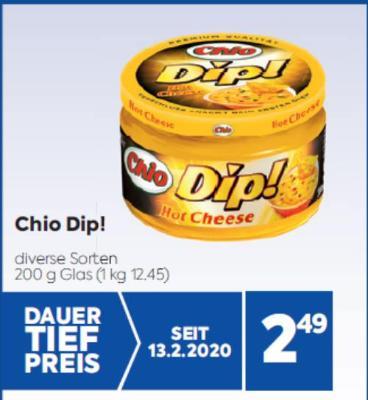Chio Dip! in diversen Sorten um € 2,49