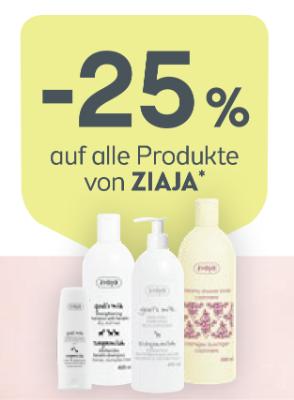 -25% auf alle Produkte von ZIAJA