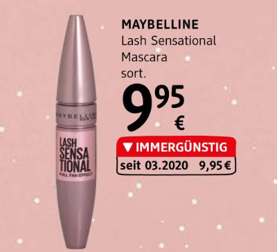 Maybelline Lash Sensational Mascara sortiert um € 9,95