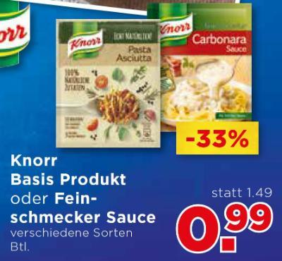 Knorr Basis Produkt oder Feinschmecker Sauce