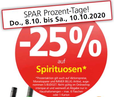 -25% auf Spirituosen
