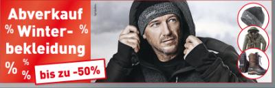 Bis zu -50% auf Winterbekleidung