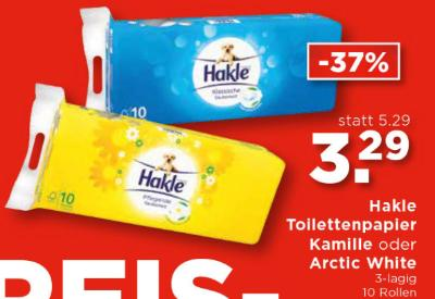 Hakle Toilettenpapier Kamille oder Arctic White