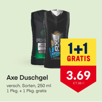 Axe Duschgel verschiedene Sorten um € 3,69