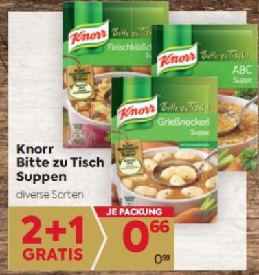 Knorr Bitte zu Tisch Suppen in diversen Sorten um € 0,66