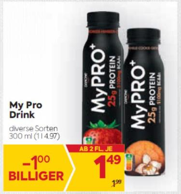 My Pro Drink in diversen Sorten um € 1,49