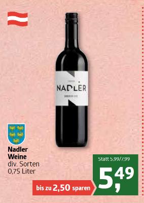 Nadler Weine diverse Sorten um €5,49