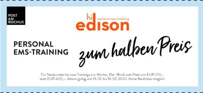 Hi Edison Personal EMS-Training zum halben Preis
