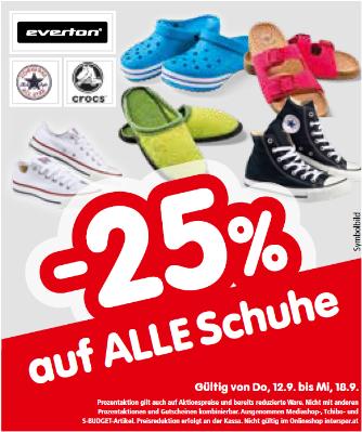 -25% auf alle Schuhe