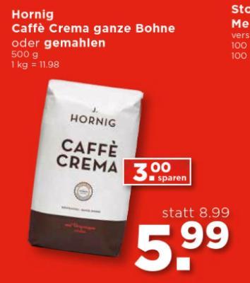 Hornig Caffe Crema ganze Bohne oder gemahlen