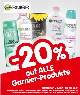-20% auf alle Garnier-Produkte