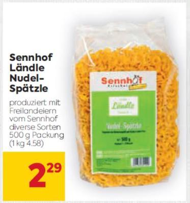 Sennhof Ländle Nudel-Spätzle in diversen Sorten um € 2,29