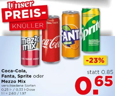 Coca-Cola, Fanta, Sprite oder Mezzo Mix