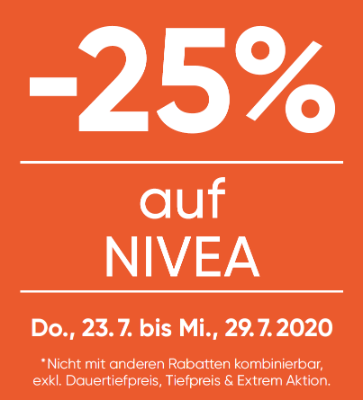 -25% auf Nivea Produkte