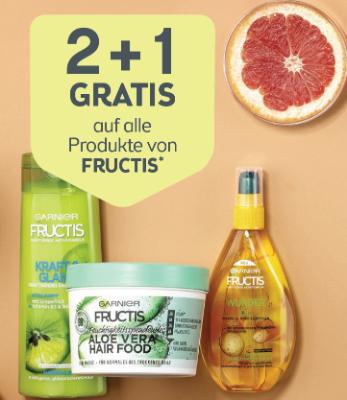 2+1 gratis auf alle Produkte von FRUCTIS