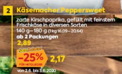 Käsemacher Peppersweet in diversen Sorten um € 2,89
