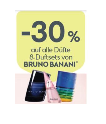 -30% auf alle Düfte & Duftsets von BRUNO BANANI