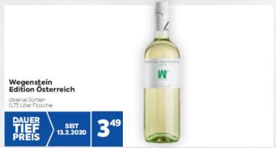 Wegenstein Edition Österreich Weine in diversen Sorten um € 3,49