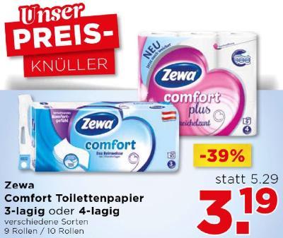 Zewa Comfort Toilettenpapier 3-lagig oder 4-lagig