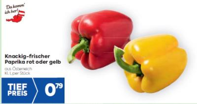 Da komm' ich her Paprika rot oder gelb um € 0,79
