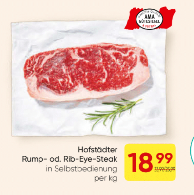 Hofstädter Rump- oder Rib-Eye-Steak um € 18,99