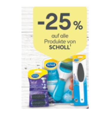 -25% auf alle Produkte von Scholl