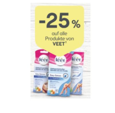 -25% auf alle Produkte von Veet