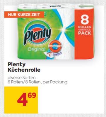 Plenty Küchenrolle in diversen Sorten um € 4,69